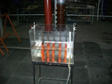 Ensaio de tensão aplicada em ferramentas isol