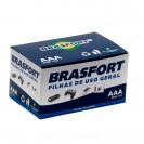 Pilha Brasfort Palito AAA C/4p