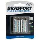 Pilha Brasfort Palito AAA Cart. C/4p