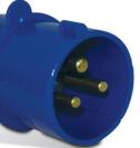 Plug Industrial Azul 2 Polos + Terra 32A