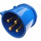 Plug Industrial Azul 3 Polos + Terra 32A