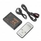 Seletor HDMI 3 Saídas C/ Controle 4K