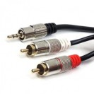 Cabo P2 Stereo x 2 RCA Profissional 3m