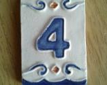 Número Retangular Azul