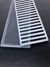 Grelha Alumínio com Caixilho com Tela 20x100