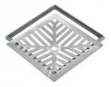 Grelha Alumínio com Caixilho Côncava 20x20