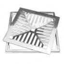 Grelha Alumínio com Caixilho Côncava 25x25