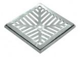 Grelha Alumínio com Caixilho Côncava 30x30
